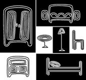 A set of stylized furniture Stock Images