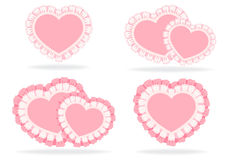 Set of stylized hearts Stock Photos