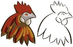 Set of stylized hen isolated Stock Images
