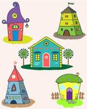 Set of the stylized houses Stock Photo
