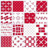 Set of stylized patterns of danish flag Stock Images
