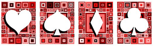 Set of stylized Seed cards on abstract background Royalty Free Stock Image