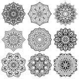 Set of stylized snowflake. Stock Photos