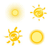 Set of stylized sun Royalty Free Stock Photo