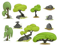Set of stylized trees Stock Image