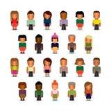 Set stylizowane dziecko postacie Zdjęcia Stock