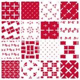 Set stylizowani wzory duńska flaga Obrazy Stock