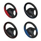 set styrningshjul för svart red Royaltyfri Bild