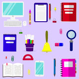 A set of subjects for education. Stock Image