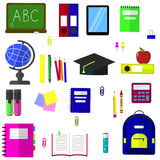 A set of subjects for education. Royalty Free Stock Images