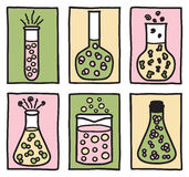 Set substanci chemicznej testa tubki royalty ilustracja