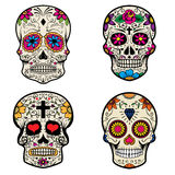 Set of Sugar skulls isolated on white background. Day of the dead. Vector illustration Royalty Free Stock Photography