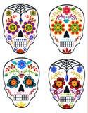 Set of sugar skulls Stock Photos