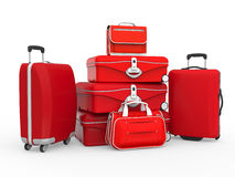 Set of Suitcases Stock Photography