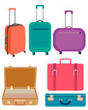Set suitcases Stock Images