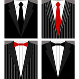 Set of suits Stock Photos