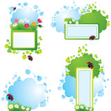 Set of summer backgrounds and frames Royalty Free Stock Photo
