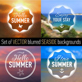 Set of summer Badges. Stock Photography