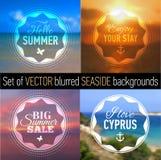 Set of summer Badges. Royalty Free Stock Photos