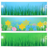 Set of summer banners Stock Photo