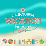 Set of summer beach icons Stock Photography