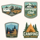 Set of Summer camp badges. Vector. Concept for shirt or logo, print, stamp, patch or tee. Set of Summer camp badges. Vector illustration. Concept for shirt or stock illustration