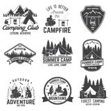 Summer camp. Vector illustration. Concept for shirt or logo, print, stamp or tee. vector illustration