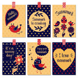 Set of summer cards Royalty Free Stock Photography