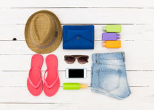 Set of summer clothes Stock Photo
