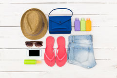 Set of summer clothes Stock Photography