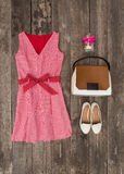 Set of summer clothes Royalty Free Stock Photo