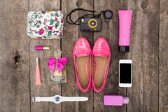 Set of summer clothes Royalty Free Stock Image