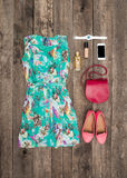 Set of summer clothes Royalty Free Stock Photography