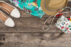 Set of summer clothes Royalty Free Stock Images