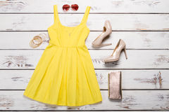 Set of summer clothes. Stock Photography