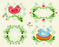 Set of Summer design elements. Stock Images