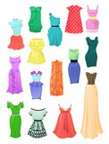 Set of summer dresses Royalty Free Stock Photos