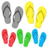 Set of summer flip flops stock illustration