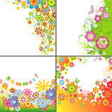 Set of summer backgrounds Stock Photos