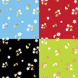 Set of summer floral patterns - vector Stock Images
