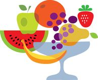 Set of summer fresh fruits Stock Photography