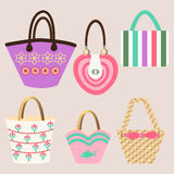 Set of Summer handbags - Illustration Stock Photo