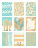 Set of summer holidays and tropical vacation posters or greeting card Royalty Free Stock Photography