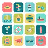 Set of summer icons Royalty Free Stock Image