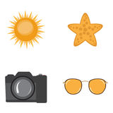 Set of summer icons Stock Photos