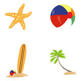 Set of summer icons Stock Photo