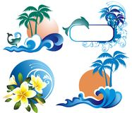 Set of summer illustration Royalty Free Stock Image