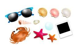 Set of summer illustrations Royalty Free Stock Photos