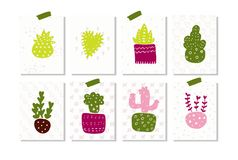 Set of summer labels cute summertime labels for wrapping gifts.  vector illustration