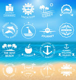 Set Summer Labels,Templates Royalty Free Stock Photography